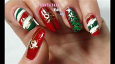 nail art for christmas three christmas nail art designs