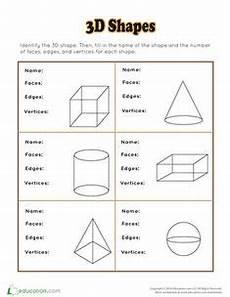 shapes worksheets second grade 1262 3d shapes homeschooling shapes worksheets 3d shapes worksheets worksheets