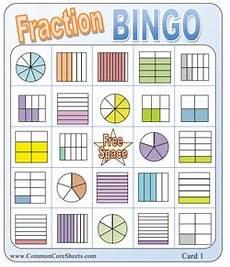 fraction bingo worksheets 3859 station 2 fraction bingo fractions