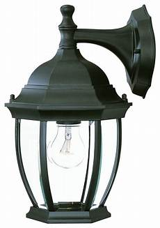 one light matte black wall lantern traditional outdoor wall lights and sconces by acclaim