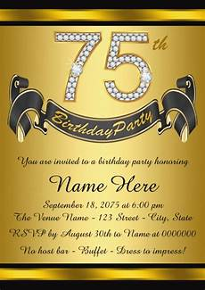 75th birthday card template the best 75th birthday invitations and invitation