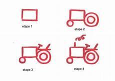Comment Dessiner Un Tracteur Fr Hellokids