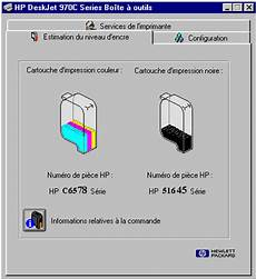 niveau d encre imprimante test imprimante hp 970 cxi