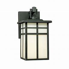 lighting mission 1 light black outdoor wall lantern sconce sl91047 the home depot