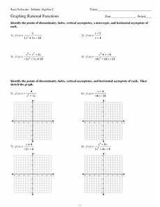 graphing rational functions worksheet for 11th grade lesson planet