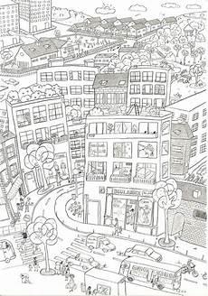 city coloring pages boutique dessin zentangle