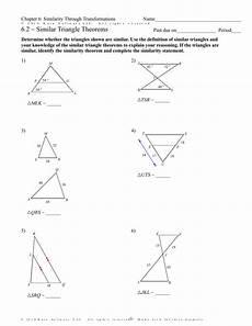 geometry worksheets similar triangles 888 infinite geometry 6 2 similar triangle theorems