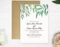 printable wedding invitation australian natives