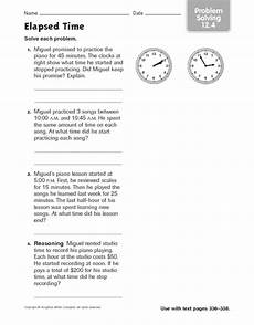 math worksheets elapsed time word problems 3411 elapsed time problem solving 12 4 worksheet for 3rd 4th grade lesson planet