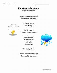 weather reading worksheets 14657 reading comprehension worksheet weather is