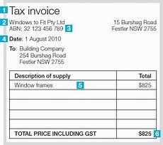 tax invoice receipt template australia invoice template australia abn invoice exle