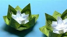 origami blumen falten 02 seerose