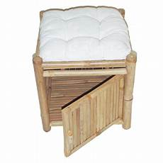 Cushioned Ottoman by Bamboo54 Bamboo Square 16 In Cushioned Storage Ottoman