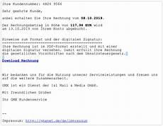 gmx phishing e mail quot gmx sicherheitshinweis quot ist spam