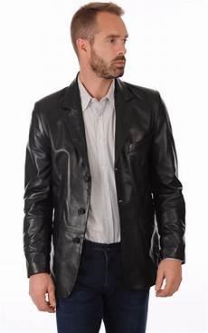 veste homme 3 4 blazer cuir noir homme la canadienne la canadienne