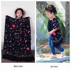 diy upcycle skirt to toddler beaded fringe kimono