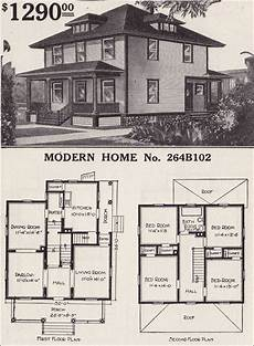modern foursquare house plans 1916 sears house plans modern home 264b102 prairie box
