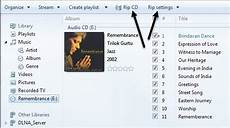 kopieren sie eine audio cd mit windows media player in mp3