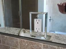 outlet cover needles glass and mirror