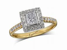 Rings Belfast Sale 0 40ct centre princess g cluster ring