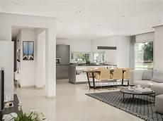 wohnzimmer ideen grau mit offener k 252 che und esstisch
