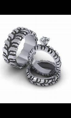 mud wedding rings mud tire tread wedding ring set stuff in 2019