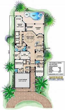 waterfront narrow lot house plans mediterranean house plan 1 story spanish waterfront style