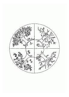 4 seasons free printable coloring pages for