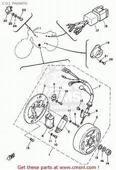 yamaha dt125h 1981 c d i magneto schematic partsfiche