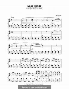 dead things from the hours by p glass sheet music musicaneo