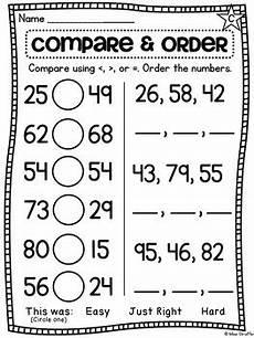 counting and ordering numbers worksheets 8009 grade math unit 11 comparing numbers skip counting and number order