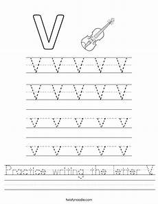 letter v free printable worksheets 23812 practice writing the letter v worksheet twisty noodle