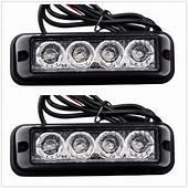 Free Shipping 12v 2PCS 4W High Power Waterproof 4 Light