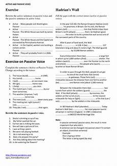 german passive worksheets 19704 11 best images of active passive voice worksheet active and passive voice passive cell