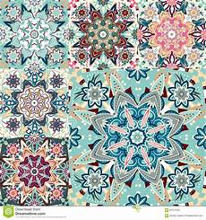 set of seamless colorful patterns in style islam