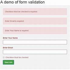 jquery form validation with bootstrap 4 exles