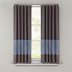 Curtains Blue Stripe Grey Window Curtains The Land