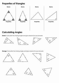 geometry triangle worksheets pdf 912 ks3 angles in triangles by fintansgirl teaching resources tes