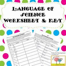 language of science worksheet with key by keystone science tpt