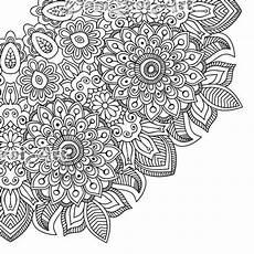blumen mandala flower mandala coloring page printable pdf blank mandala