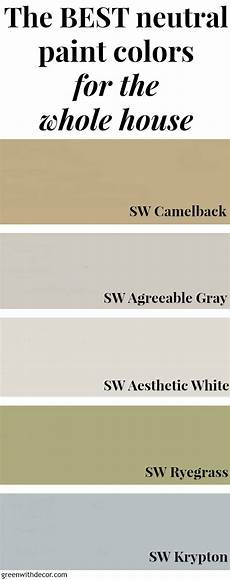 best neutral paint colors banner green with decor