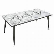 table de jardin mosaika rectangulaire gris 6 personnes