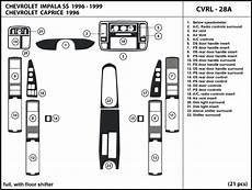 automotive service manuals 1996 chevrolet impala interior lighting fits chevrolet impala ss 96 1996 with floor shifter dash kit trim interior ebay