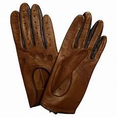 gants de conduite femme cuir brun et noir glove story