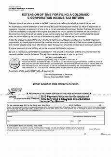fillable form dr 0158c payment voucher for extension of time for filing a colorado c