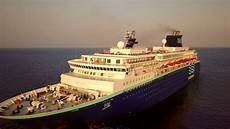 pullmantur horizon departs port rodos drone over cruise