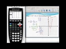 graphing a parabola in standard form and finding the vertex using a graphing calculator youtube