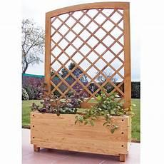 bac pour arbuste de jardin bac jardiniere claustra arrondie en chataigner vente au