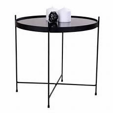runder glastisch 48x48x48 runder glastisch in schwarz mit stahlgestell arhus