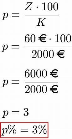 zinssatz berechnen zinszahl
